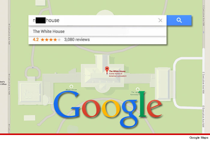 Google Dont Blame Us Blame Racist Internet For White House - White house on us map
