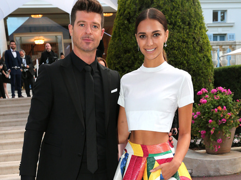 Robin Thicke and Girlfriend April Love Geary Make Red Carpet Debut at Cannes
