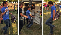 Miles Teller --  Gets Footloose at Music Fest ... Dancing with Himself (VIDEO)