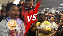'Aladdin' & 'The Lion King' -- Broadway Casts in Epic Airport Sing-Off (VIDEO)