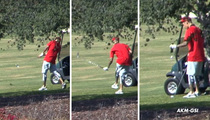 Justin Bieber -- Pulls a Tiger Woods ... Chokes On Golf Course