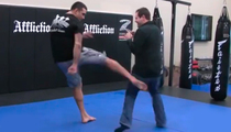 UFC Champ Fabricio Werdum -- Floors Reporter with Vicious Leg Kick ... Wasn't Even Trying! (VIDEO)