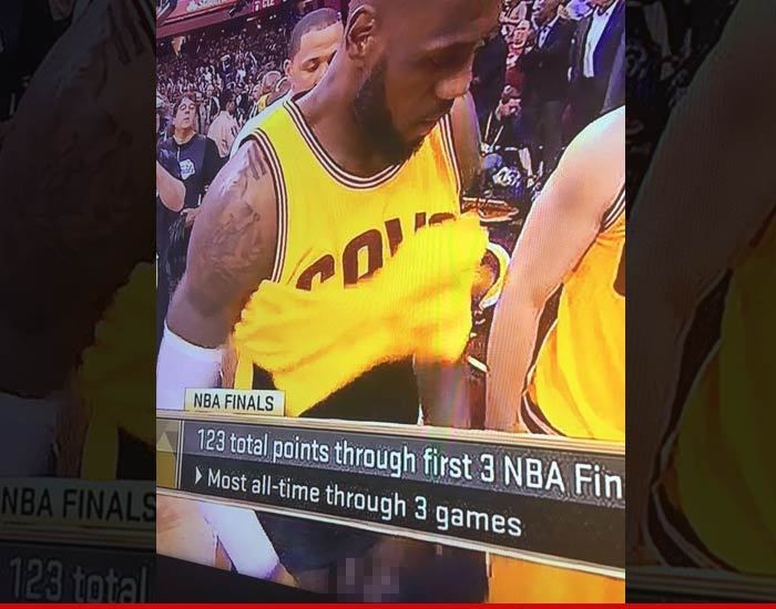 lebron james dick shot