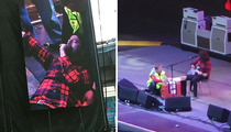 Dave Grohl -- Breaks a Leg On Stage ... FOR REAL!!! (VIDEO)