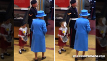 Queen Elizabeth -- Tiny Royal Subject Gets Smacked Up (VIDEO)