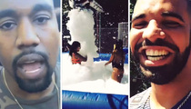 Drake -- Epic Backyard Foam Party ... With Kanye, Game, NBA Stars