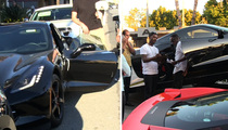 Ray J -- Corvette Smashed at Dog Party!!  Someone Really Stepped in It (VIDEO)