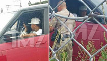 Tyga & Kylie Jenner -- Pulled Over by the Happiest Cop on Earth (PHOTOS)