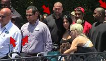 North West -- I Can't See Mickey ... Too Many Damn Security Guards! (VIDEO)