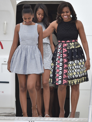 Michelle, Malia and Sasha Obama Stylish as Ever on European Tour -- See the Pics!