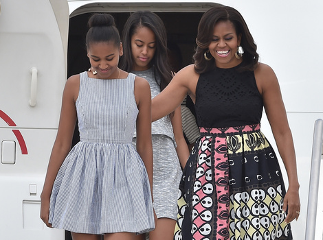 Michelle, Malia and Sasha Obama Stylish as Ever on European Tour -- See the…