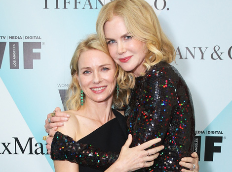 Nicole Kidman and Naomi Watts Share a Smooch on Stage -- See the Pics!