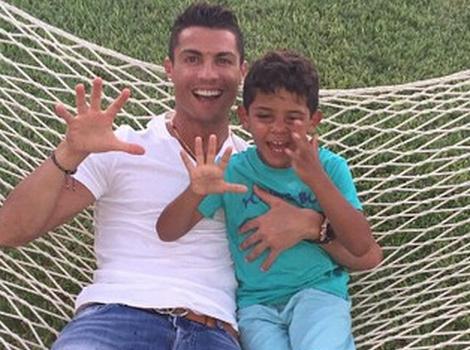 Cristiano Ronaldo's Son Turns Five -- See His Adorable Mini-Me!