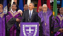 President Obama -- Solos on 'Amazing Grace' (VIDEO)