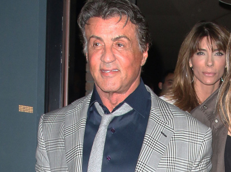 Sylvester Stallone Steps Out With His Gorgeous Model Daughter Sistine