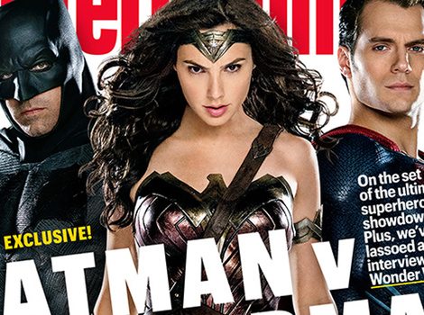 Wonder Woman Steals the Spotlight on New 'Batman v. Superman' Magazine Cover