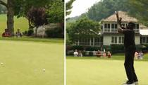 Shaq -- Sinks Golf Ball Free Throw ... Goes Insane!