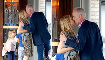 Kelly Rutherford -- Celebrates Return of Kids with a Kiss