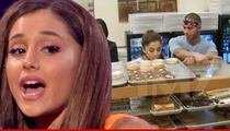 Ariana Grande -- Donut Shop Bombs Inspection ... After Licking Stunt