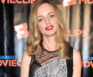 Heather Graham Flashes Booty and Bra in See-Through Dress At Comic-Con