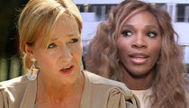 J.K. Rowling -- DESTROYS SERENA WILLIAMS HATER ... She's Beautiful, You Moron!
