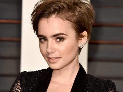 Lily Collins Ditches Her Pixie Cut, Gets Extensions