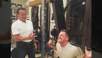 Arnold Schwarzenegger -- Best Buddies Lifting Sesh ... With J.J. Watt