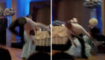 Wedding DISASTER -- Groomsman Takes Out Bridesmaid with Backflip!!! (VIDEO)