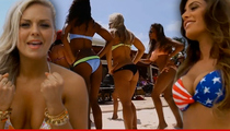 New England Patriots -- Cheerleader Bikini Dance Party ... To That 'Cheerleader' Song