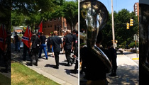 KKK Rally Gets Trolled By Coolest Tuba Player Ever (VIDEO)