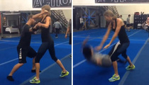 Taylor Swift -- Terrible MMA Fighter (Video)