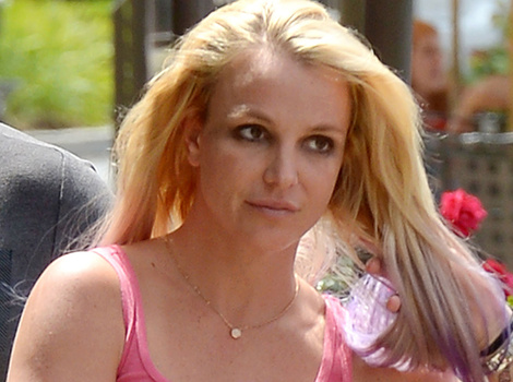 Britney Spears Matches Her Hair to Her Bikini -- See Lavender Locks!