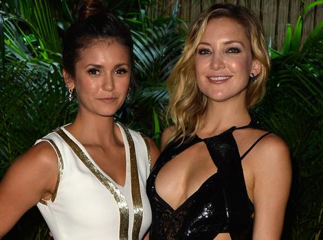 Nina Dobrev and Kate Hudson Dazzle at Leonardo DiCaprio's Saint-Tropez Gala