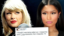 Taylor Swift -- Bows Down to Nicki Minaj
