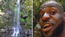 LeBron James -- Chasin' Waterfalls ... On Family Vacay (VIDEO)