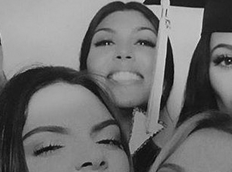 Kourtney Kardashian Flashes Big Grin at Kylie's Graduation Party Amid Split Drama
