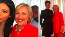 Hillary Clinton Secures the All-Important Kimye Vote (PHOTO)