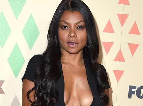 Taraji P. Henson Shows Off Tons Of Cleavage at Fox's 2015 TCA All-Star Party -- See More…