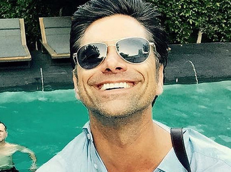 """Fun Photos: John Stamos Parties with Cast of """"Full House"""" and Their Kids"""