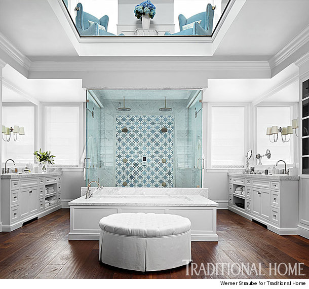 Inside giuliana rancic 39 s gorgeous chicago home you won for Master bathroom his and hers