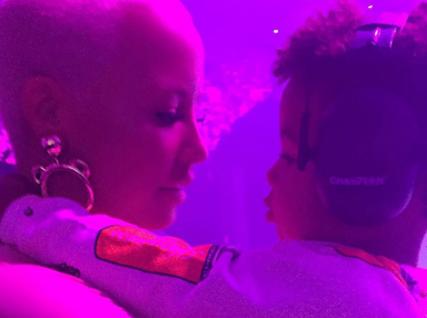 Amber Rose Takes Son Sebastian to See Dad Wiz Khalifa In Concert