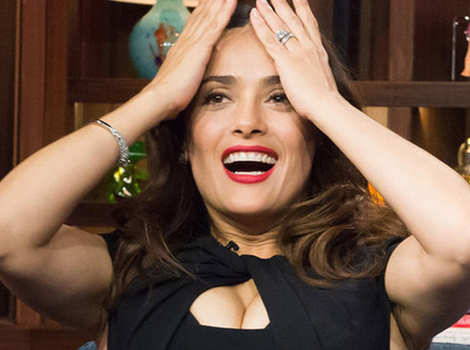 Salma Hayek Plays Never Have I Ever -- Asked About One-Night Stands & Shoplifting!