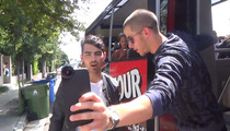 Nick Jonas -- Hijacks TMZ Hollywood Tour Bus!!! (VIDEO)