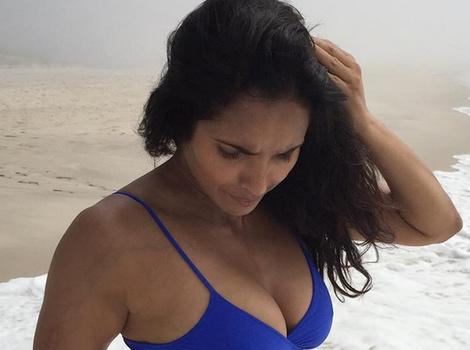 Bikini-Clad Padma Lakshmi Proves She Gained Weight In Her Boobs