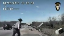 Heroic Officer Saves Truck Driver's Life