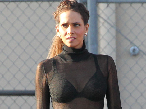 Halle Berry, 49, Shows Off Her Amazing Body In Bra & Completely Sheer Top