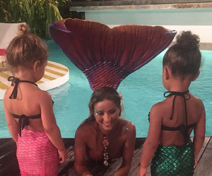 "North West & Penelope Disick Meet ""Real"" Mermaid During St. Barts Vacation"