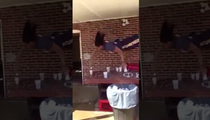 The Most Insane Beer Pong Dunk ... Ever (VIDEO)