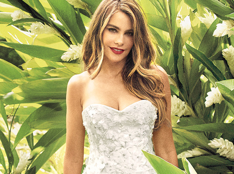 Sofia Vergara Stuns In Wedding Dress for New Magazine Spread