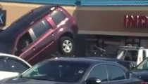 The Struggle Is Real ... Guy Tries To Drive Off Tow Truck